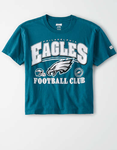 Tailgate Women's Philadelphia Eagles Cropped T-Shirt