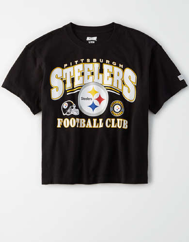 Tailgate Women's Pittsburgh Steelers Cropped T-Shirt