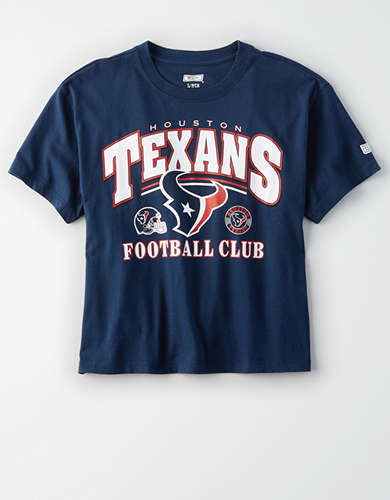 Tailgate Women's Houston Texans Cropped T-Shirt