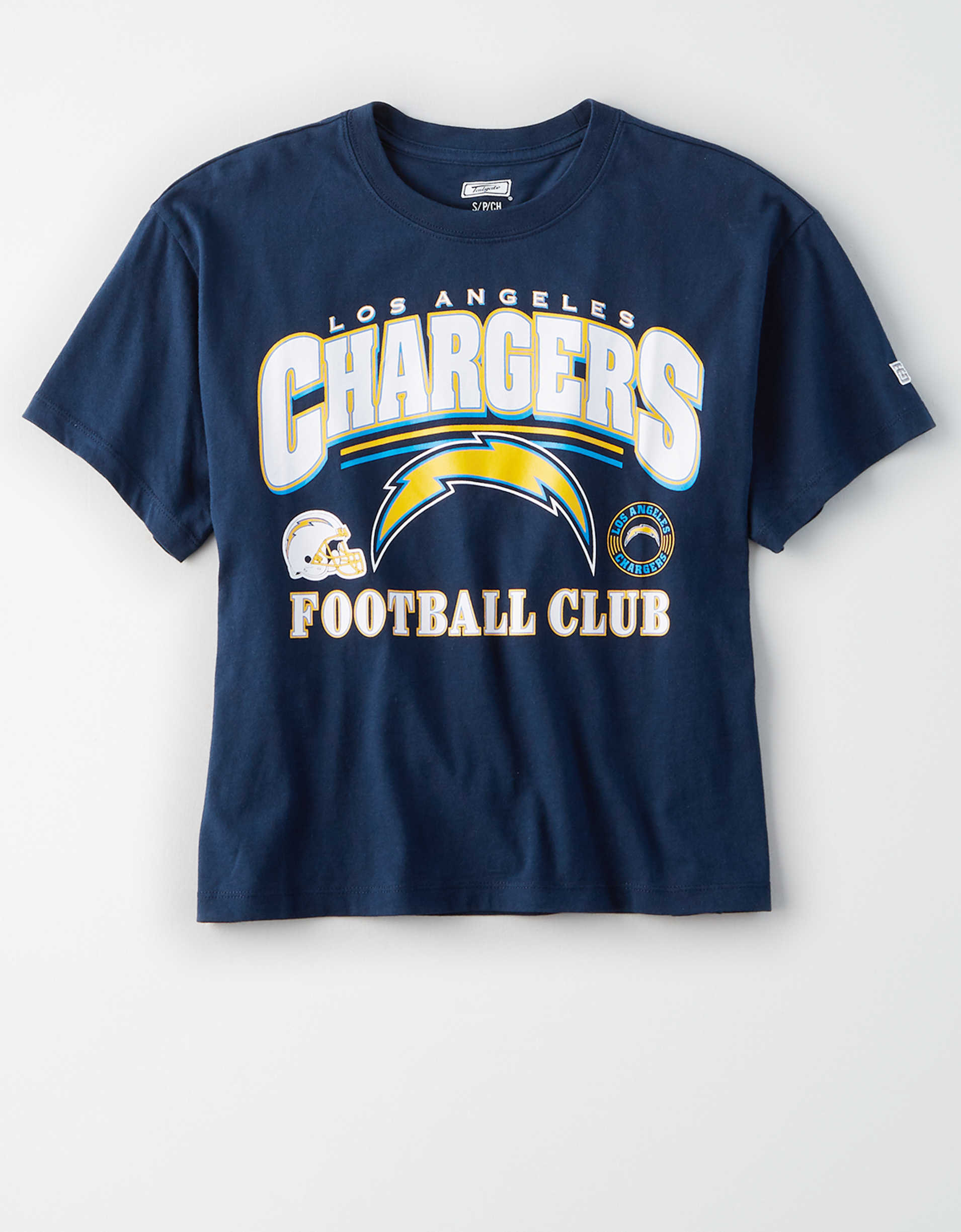 Tailgate Women's Los Angeles Chargers Cropped T-Shirt