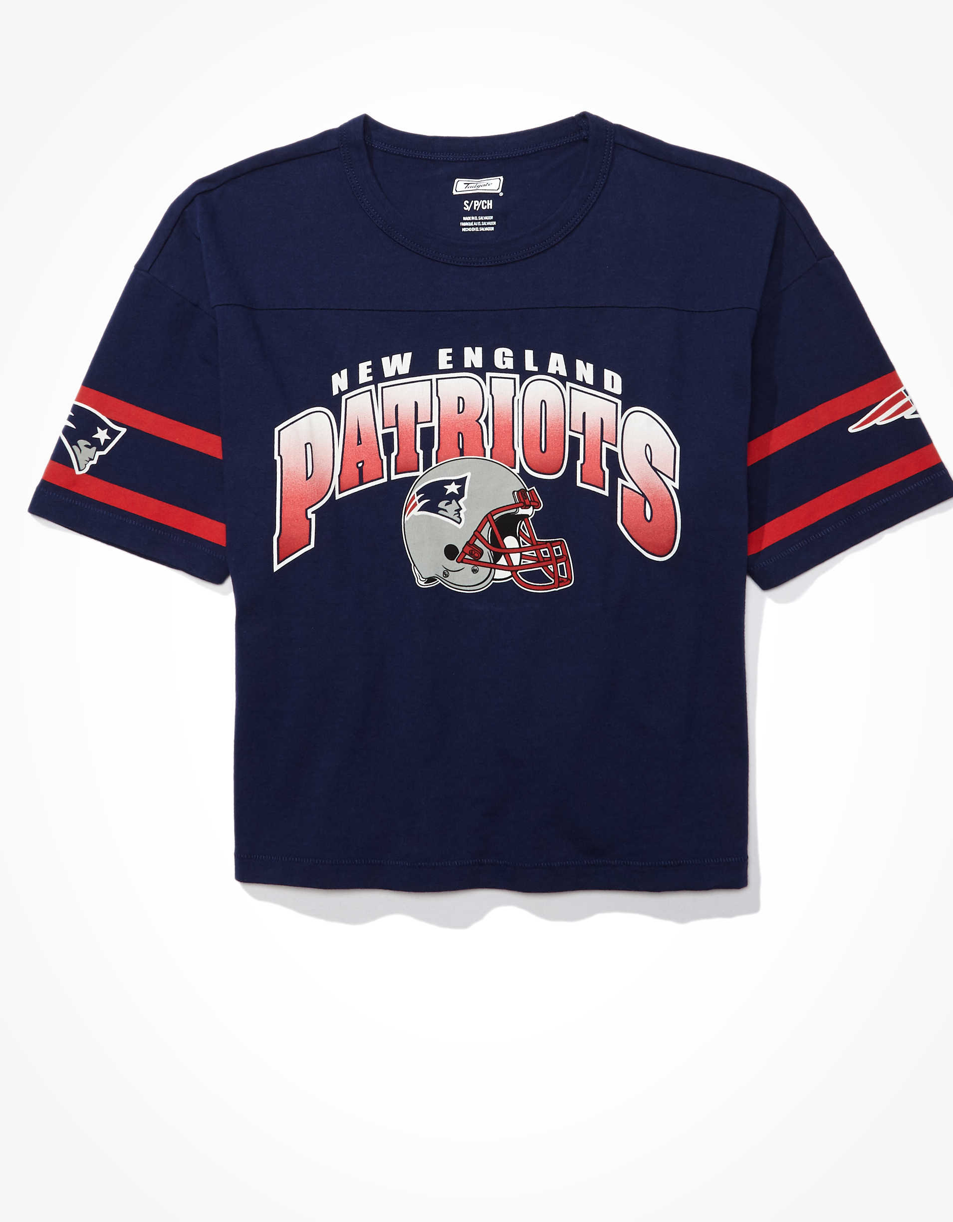 Tailgate Women's New England Patriots Cropped T-Shirt