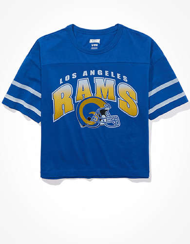 Tailgate Women's Los Angeles Rams Cropped T-Shirt