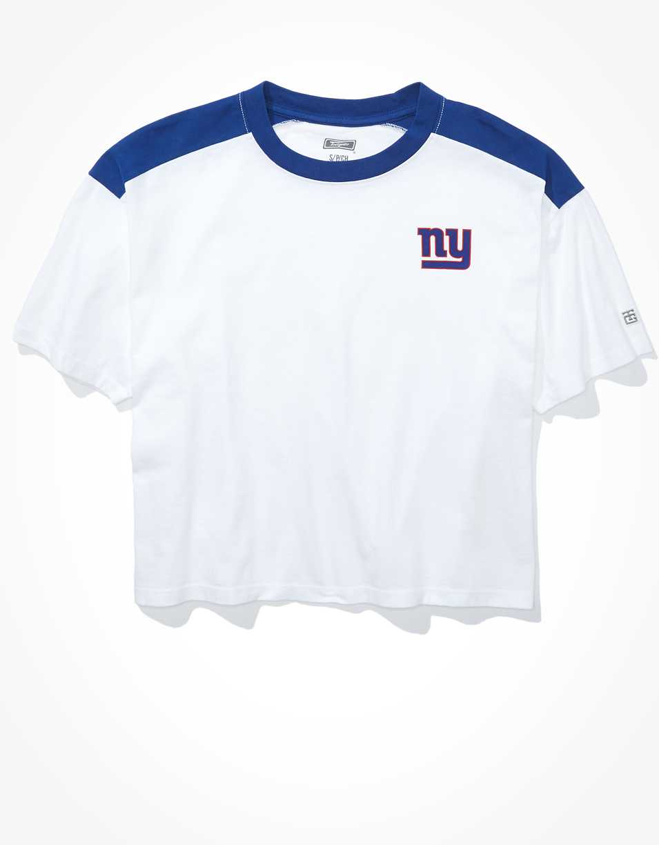 Tailgate Women's NY Giants Boxy Cropped Tee