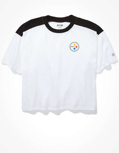 Tailgate Women's Pittsburgh Steelers Boxy Cropped Tee