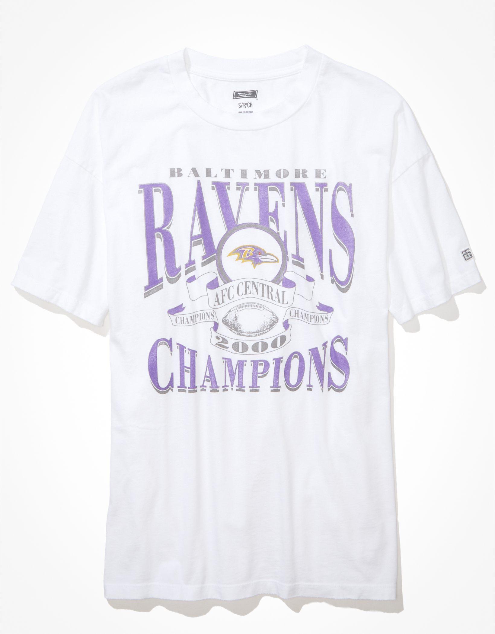 Tailgate Women's Baltimore Ravens Oversized Graphic T-Shirt