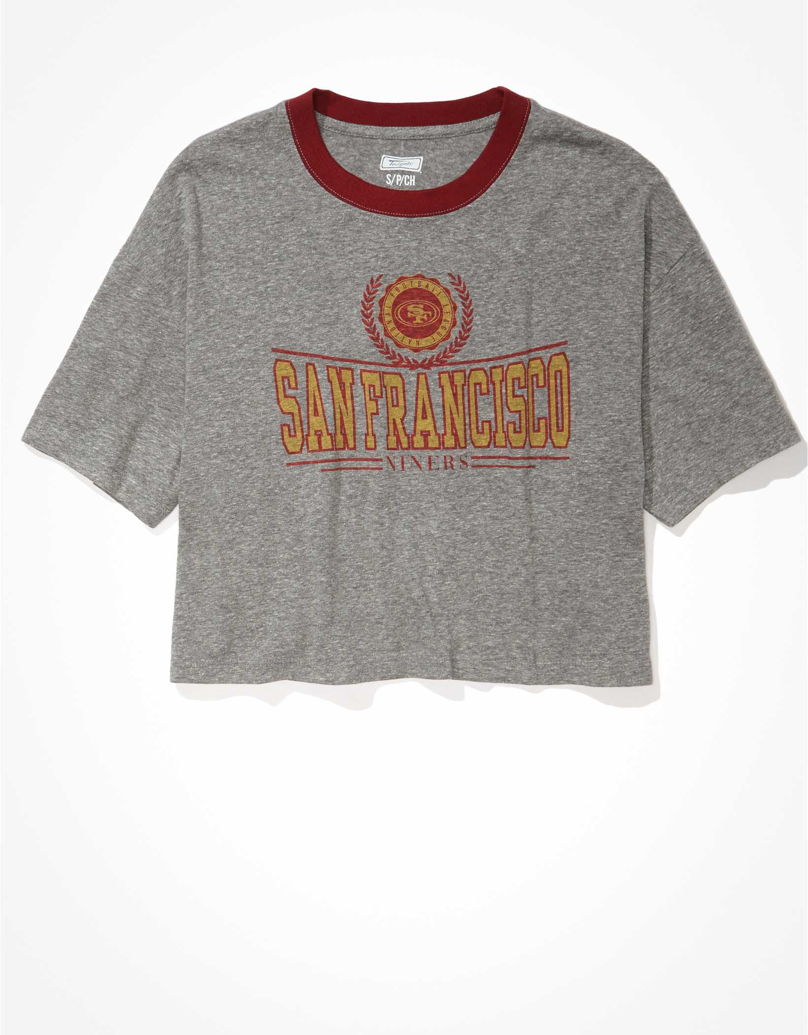 Tailgate Women's SF 49ers Super Cropped T-Shirt