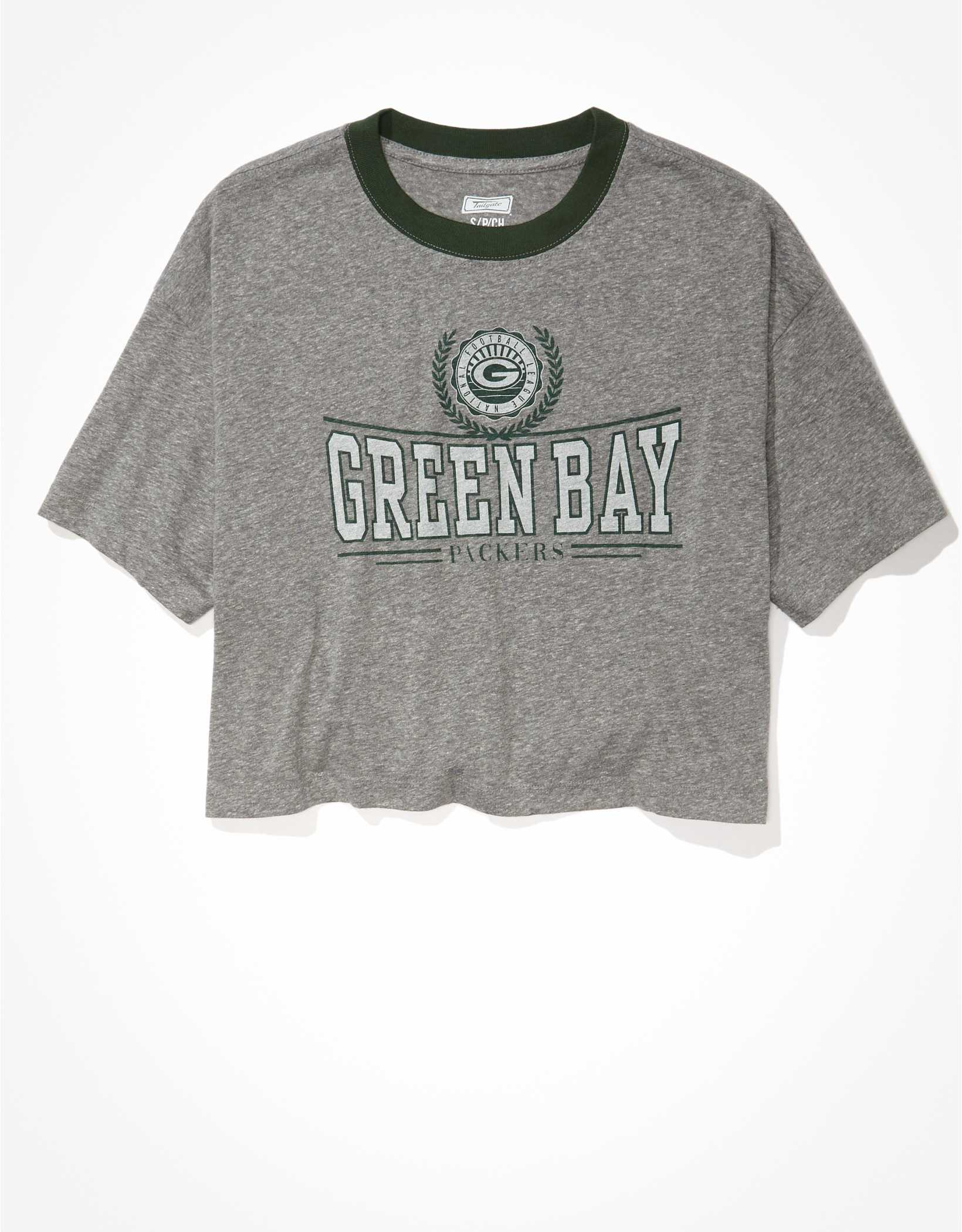 Tailgate Women's Green Bay Packers Super Cropped T-Shirt