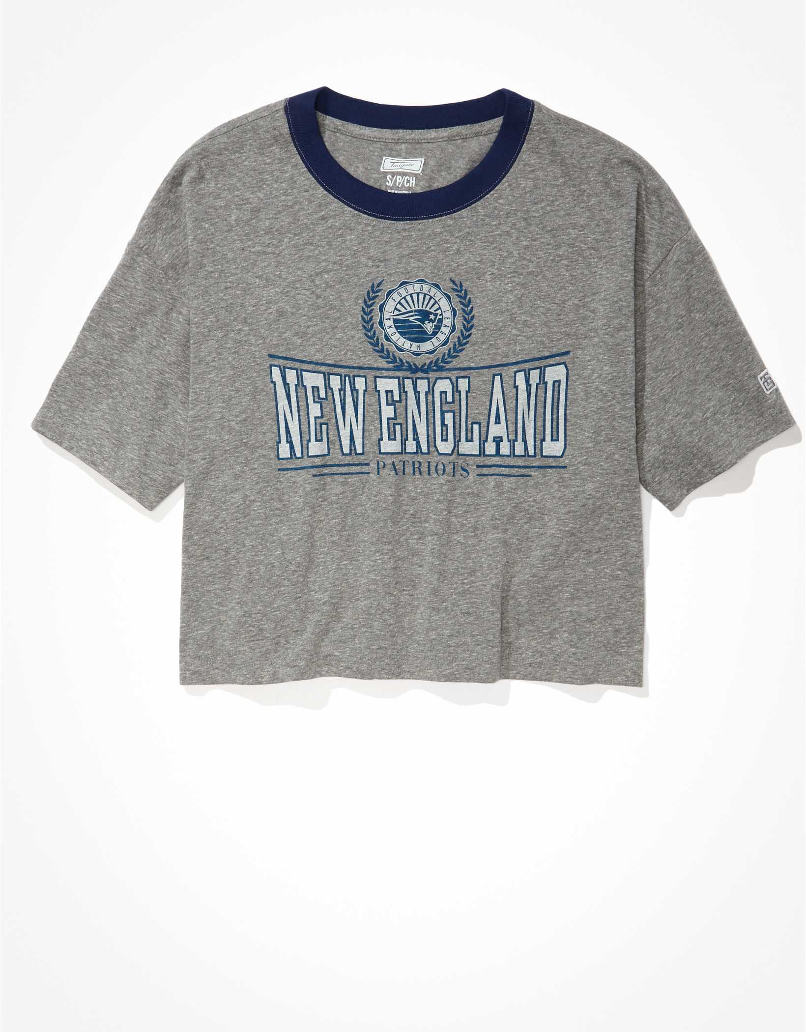 Tailgate Women's NE Patriots Super Cropped T-Shirt