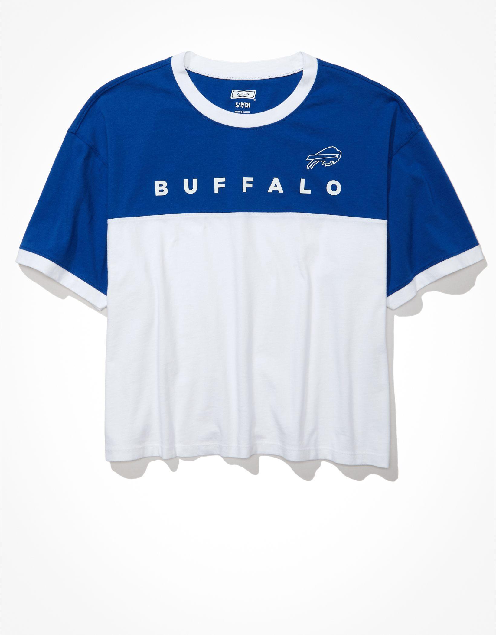 Tailgate Women's Buffalo Bills Cropped Colorblock T-Shirt