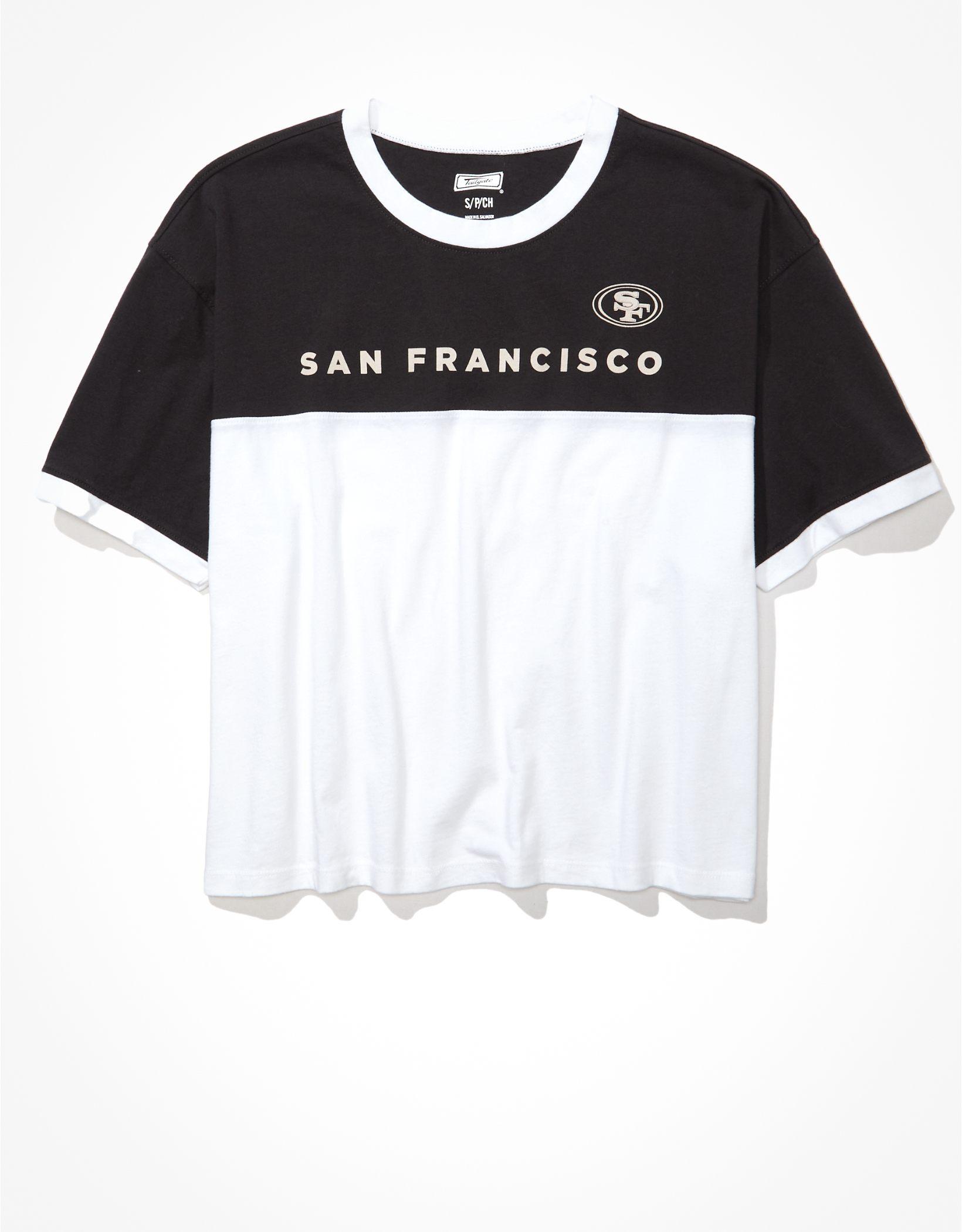 Tailgate Women's San Francisco 49ers Cropped Colorblock T-Shirt