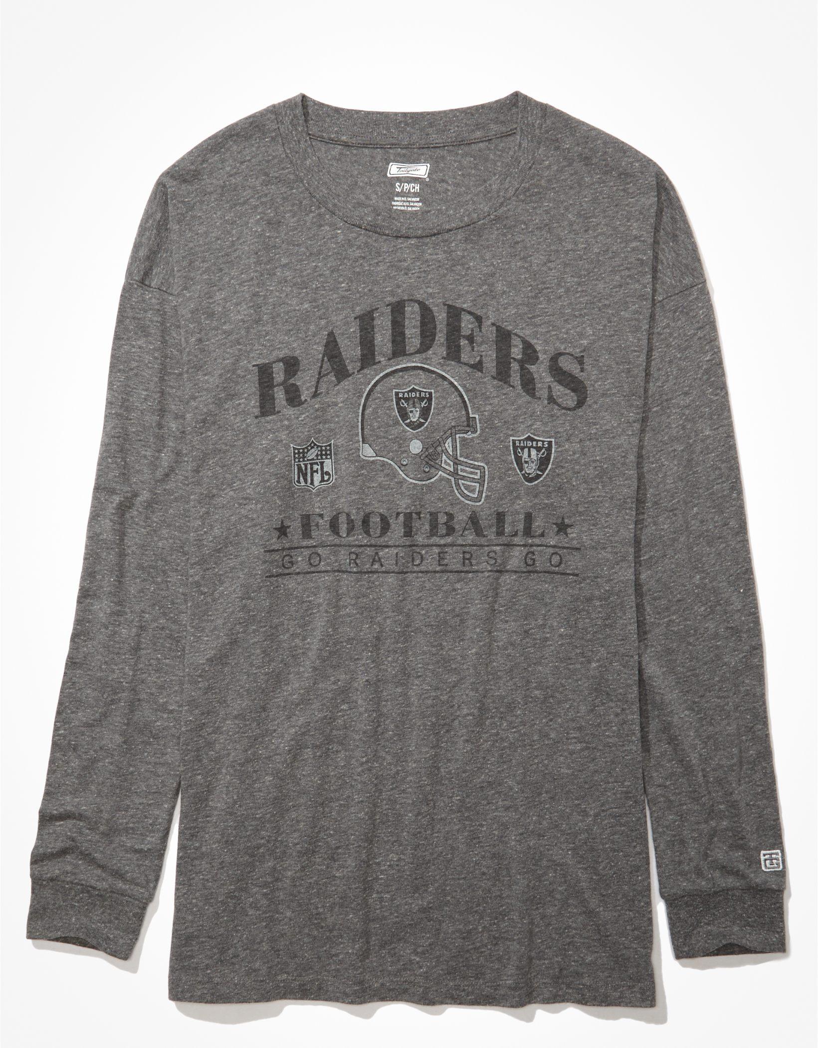 Tailgate Women's Las Vegas Raiders Long-Sleeve Graphic T-Shirt