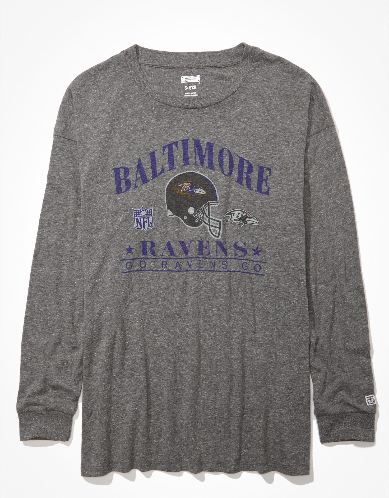 Tailgate Women's Baltimore Ravens Long-Sleeve Graphic T-Shirt