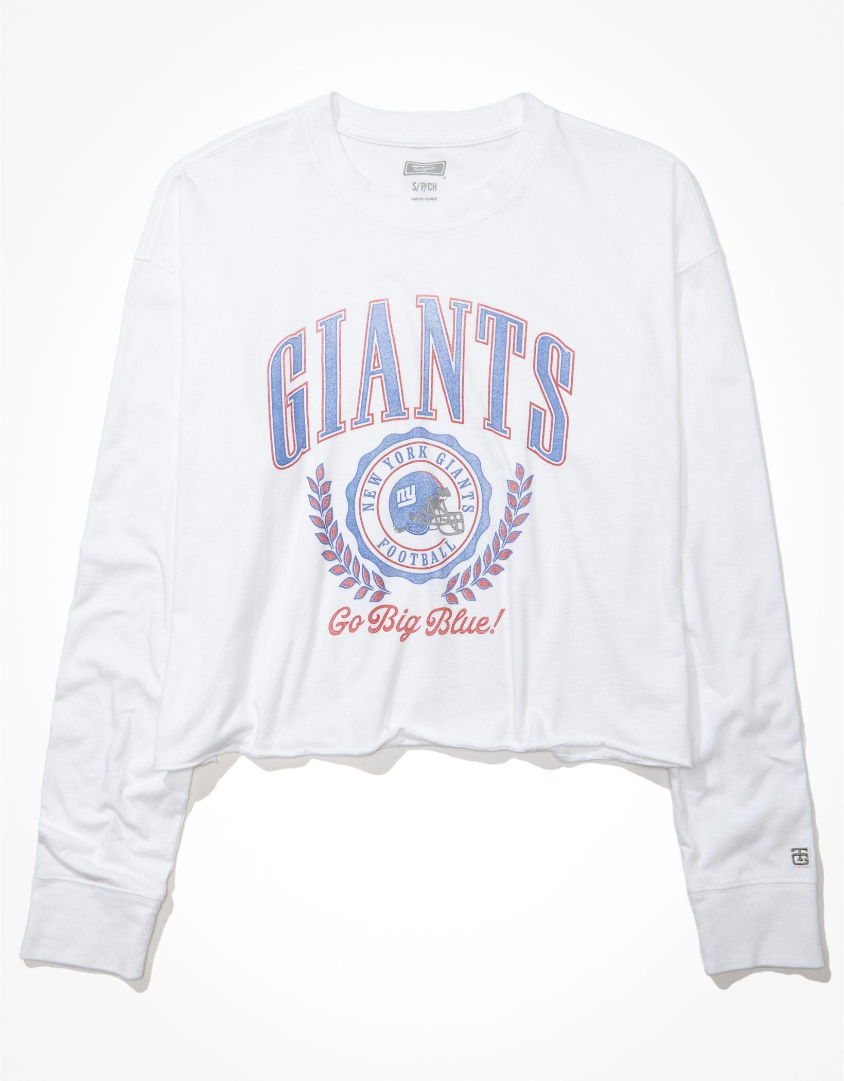 Tailgate Women's New York Giants Raw Hem Long-Sleeve T-Shirt
