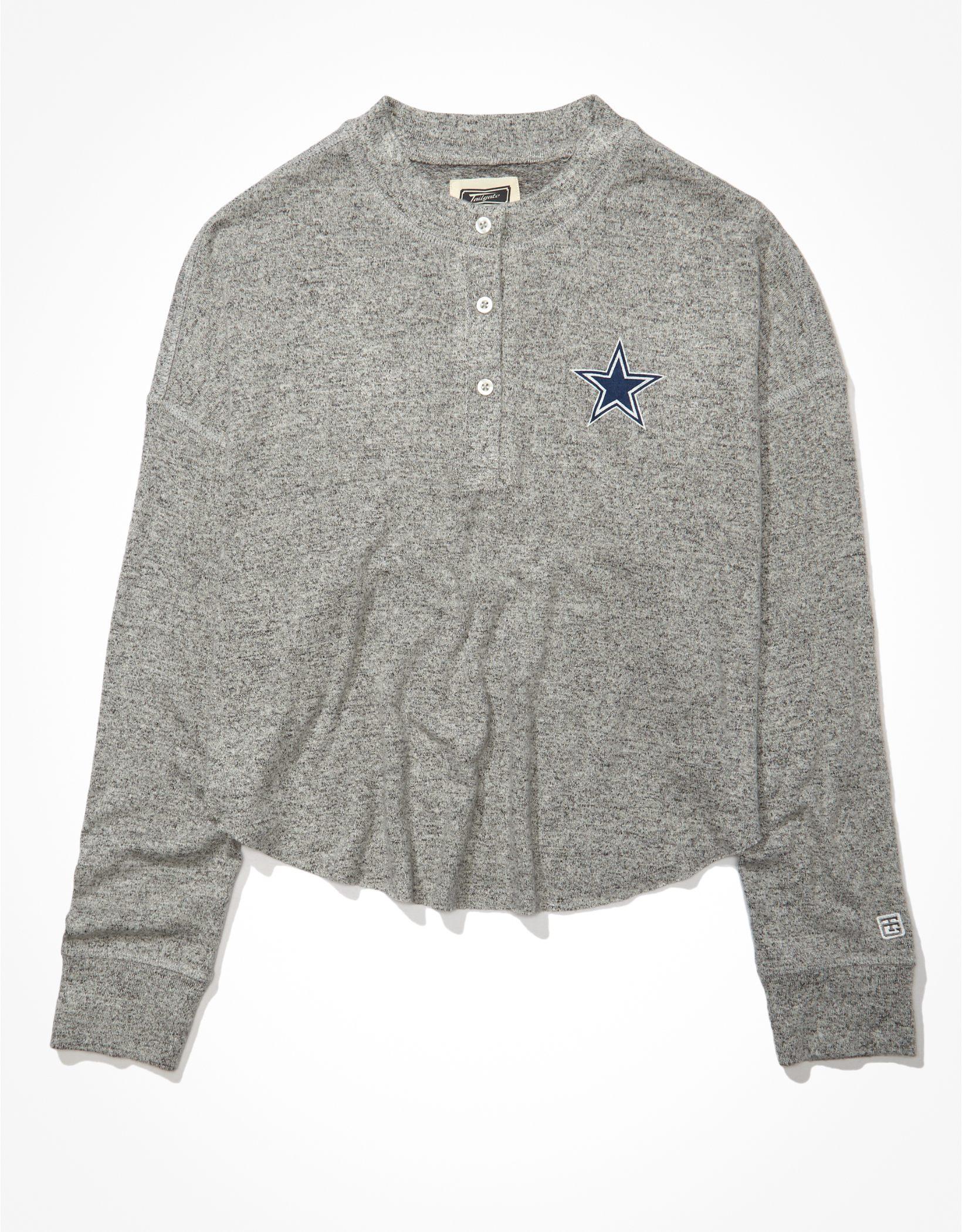 Tailgate Women's Dallas Cowboys Long-Sleeve Plush Henley