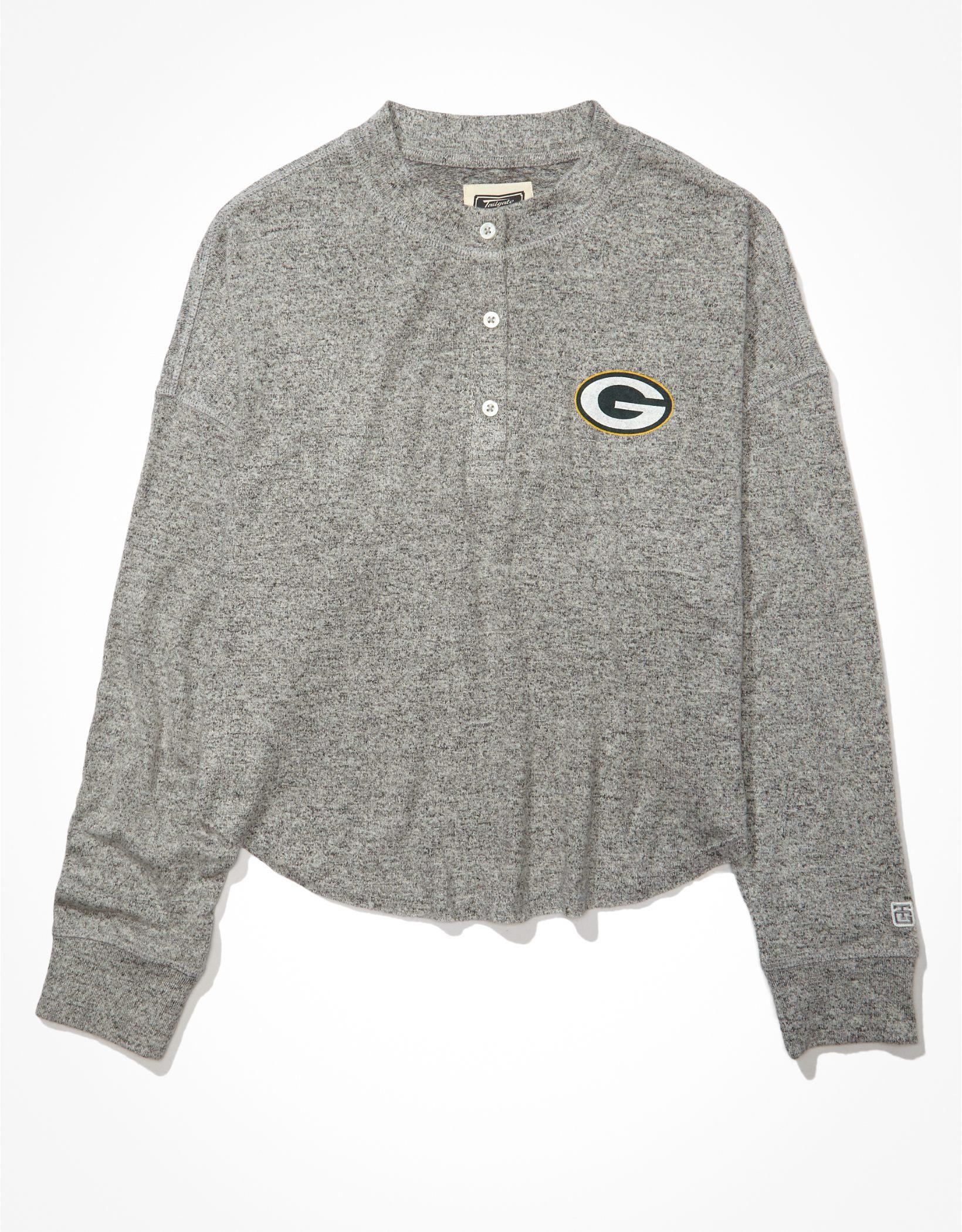 Tailgate Women's Green Bay Packers Long-Sleeve Plush Henley