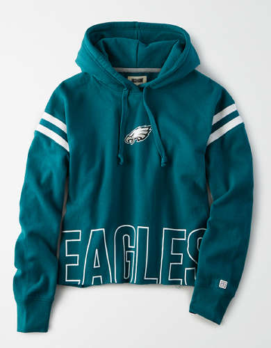 Tailgate Women's Philadelphia Eagles Cropped Hoodie