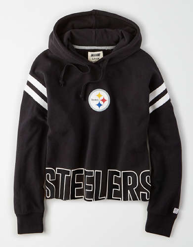 Tailgate Women's Pittsburgh Steelers Cropped Hoodie
