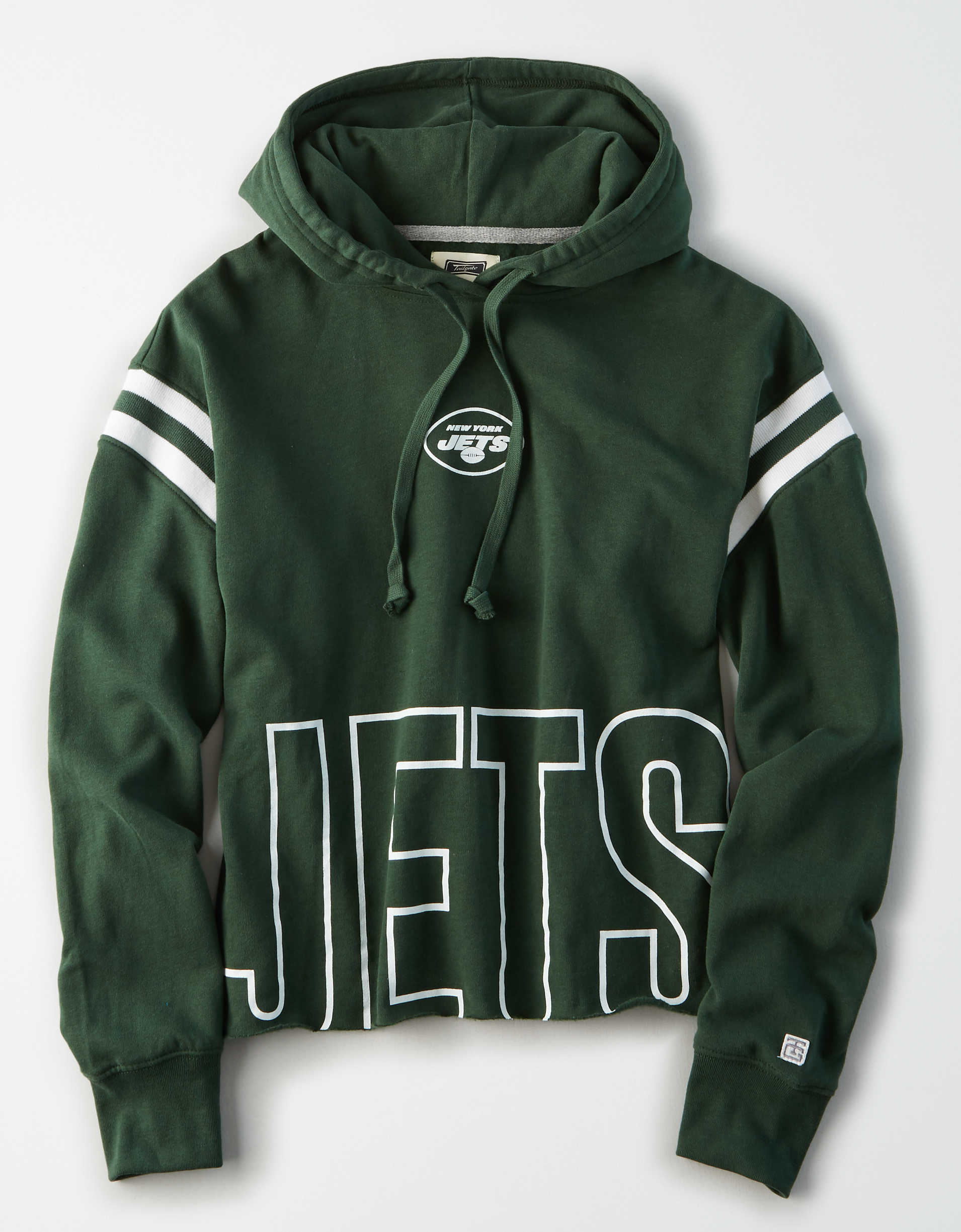 Tailgate Women's New York Jets Cropped Hoodie