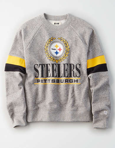 Tailgate Women's Pittsburgh Steelers Raglan Sweatshirt