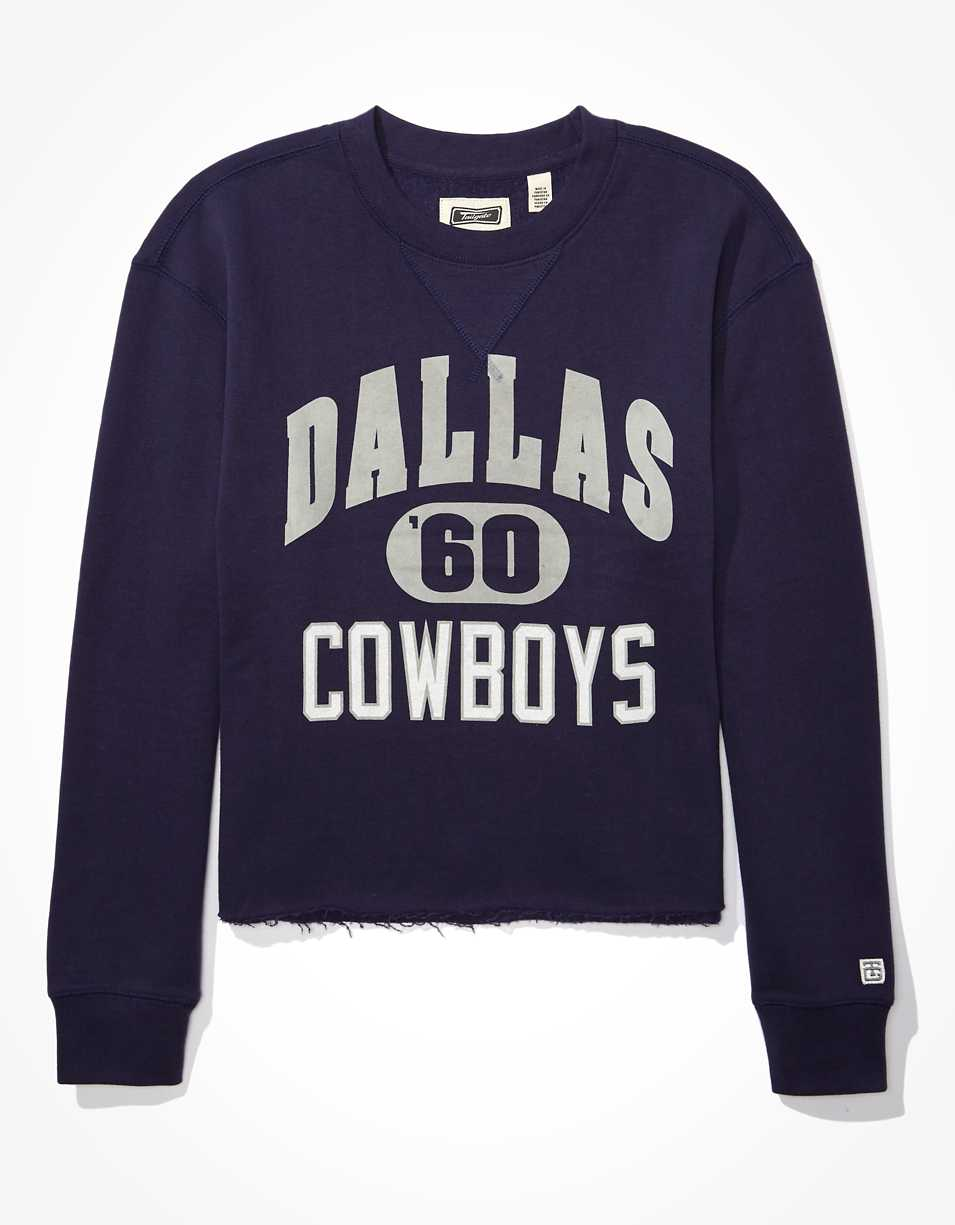 Tailgate Women's Dallas Cowboys Raw Hem Sweatshirt