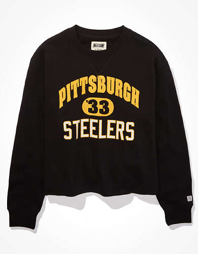 Tailgate Women's Pittsburgh Steelers Cut-Off Sweatshirt