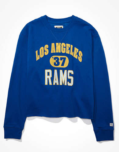 Tailgate Women's Los Angeles Rams Cut-Off Sweatshirt