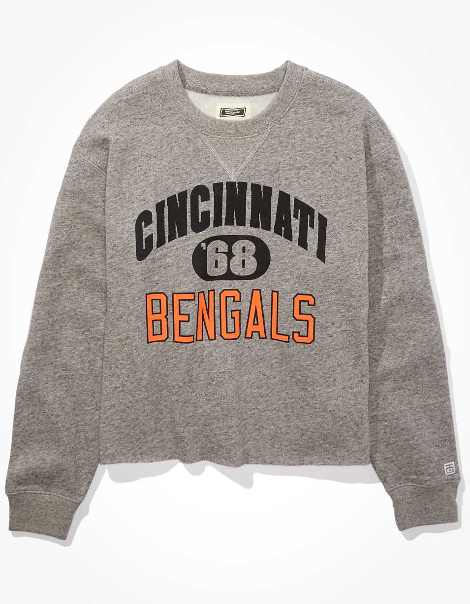 Tailgate Women's Cincinnati Bengals Cut-Off Sweatshirt