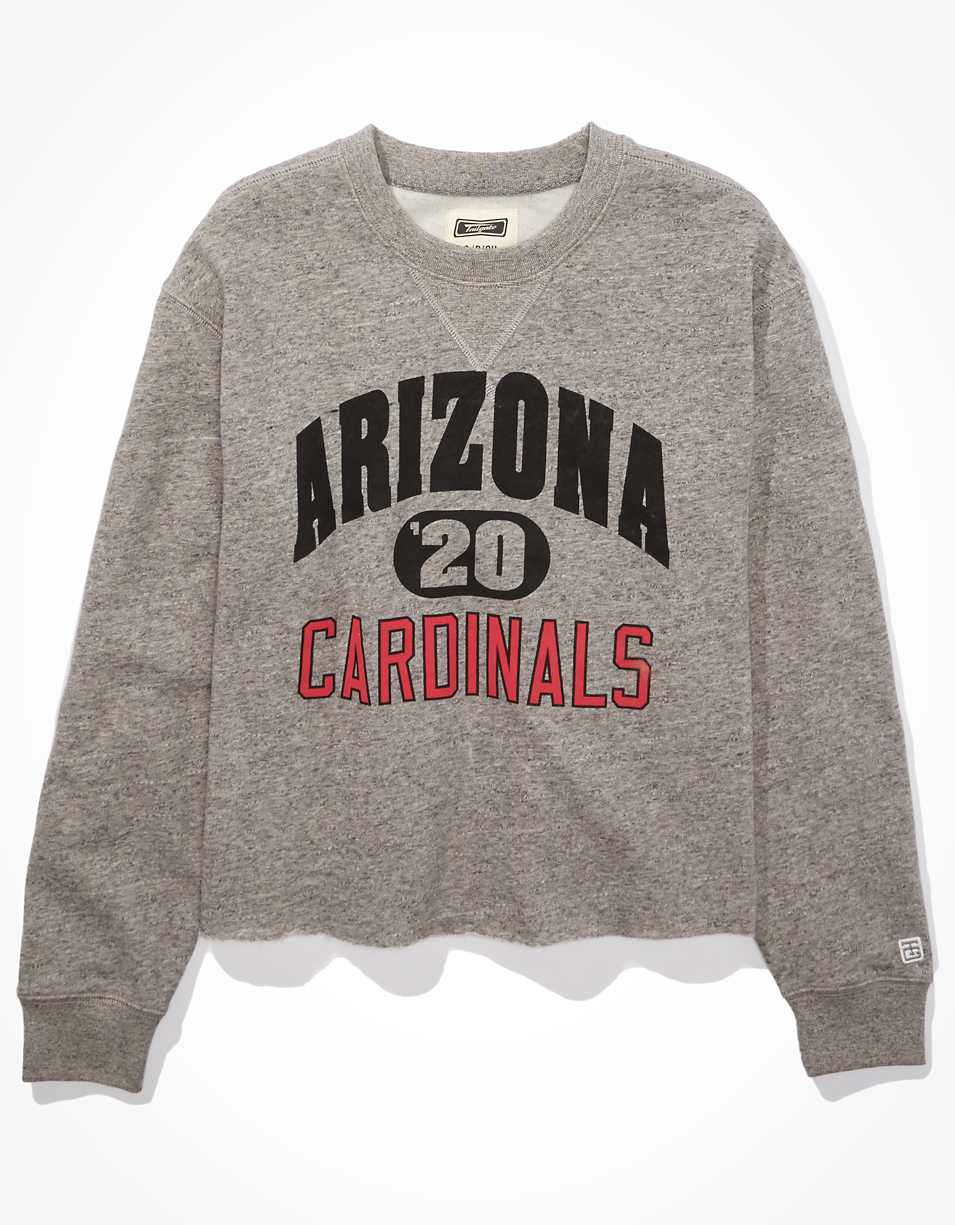 Tailgate Women's Arizona Cardinals Cut-Off Sweatshirt