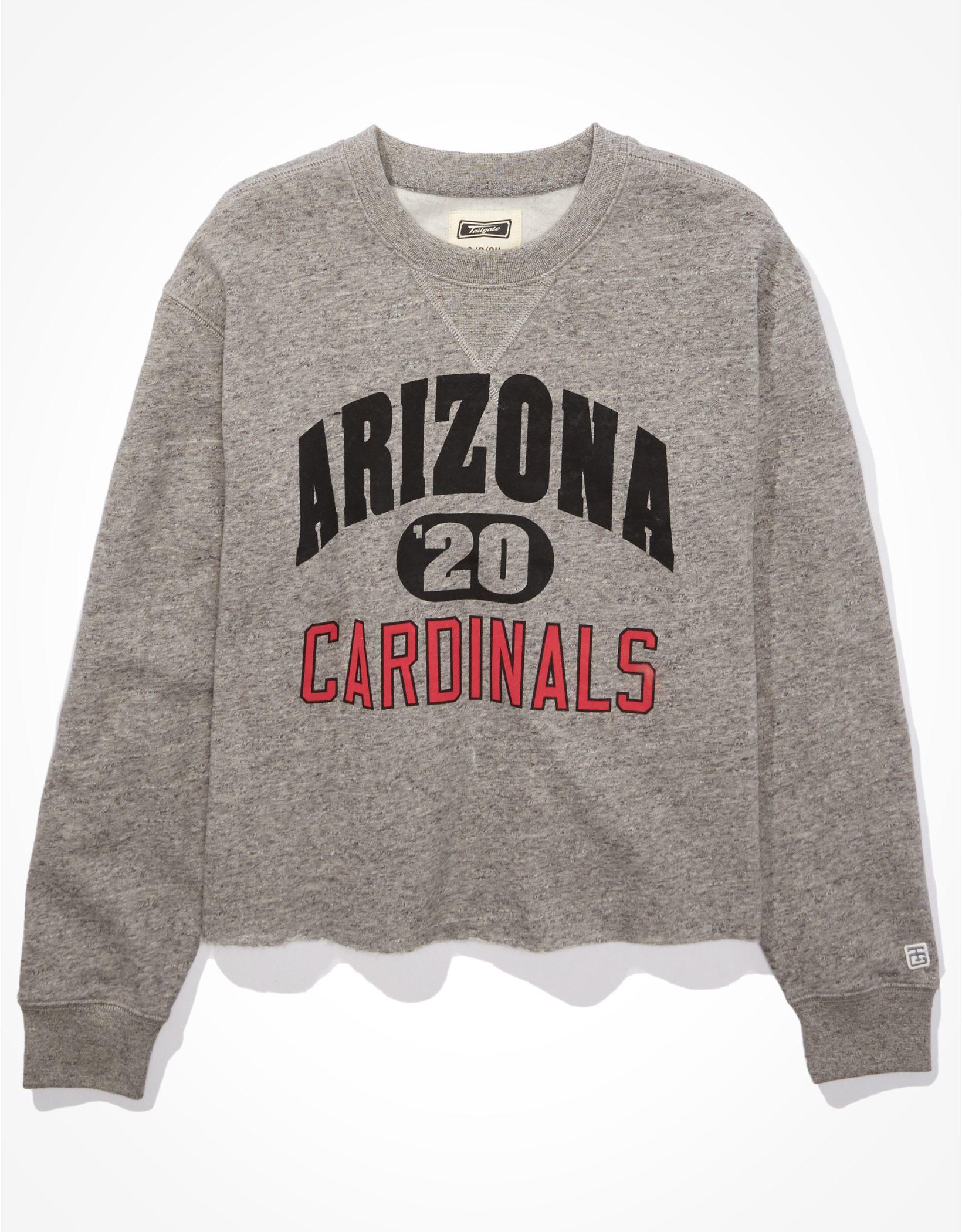Tailgate Women's Arizona Cardinals Cut-Off Sweatshirt