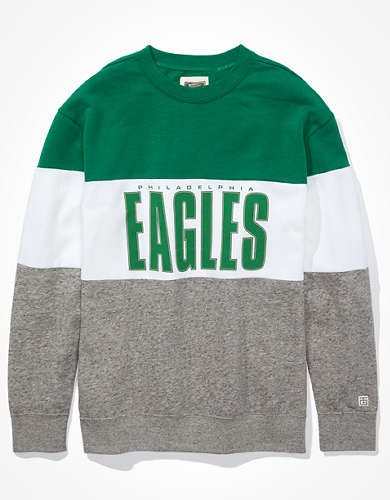 Tailgate Women's Philadelphia Eagles Colorblock Sweatshirt