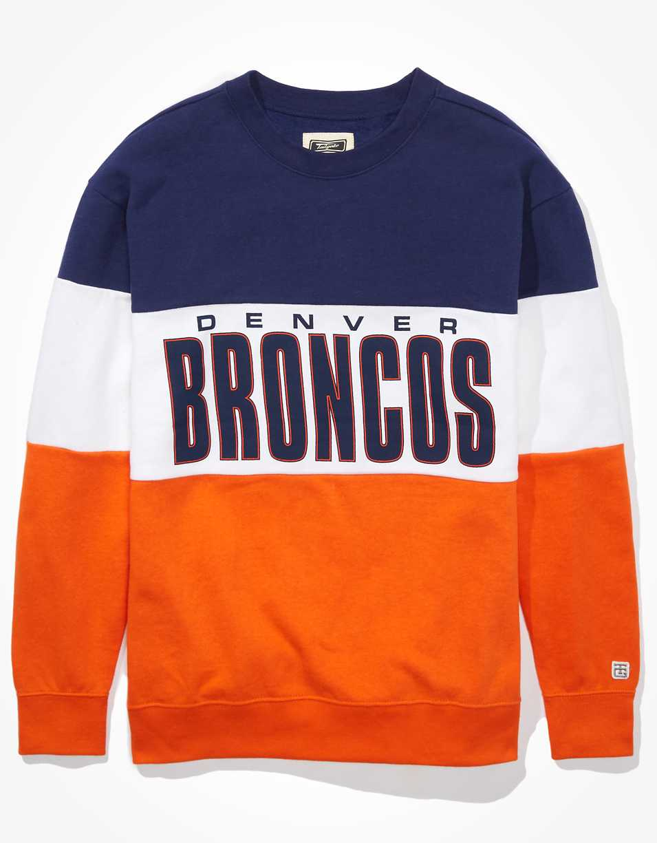 Tailgate Women's Denver Broncos Colorblock Sweatshirt