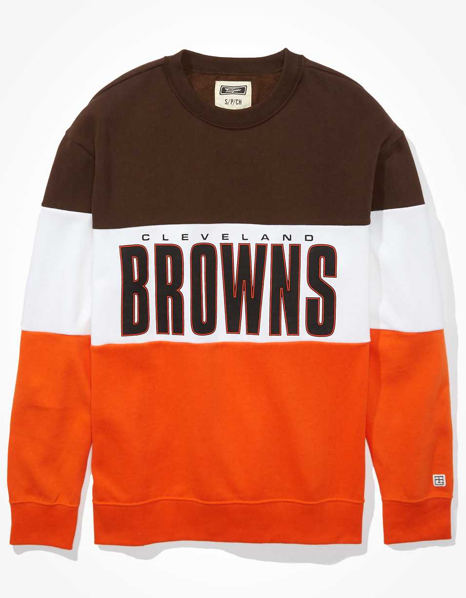 Tailgate Women's Cleveland Browns Colorblock Sweatshirt