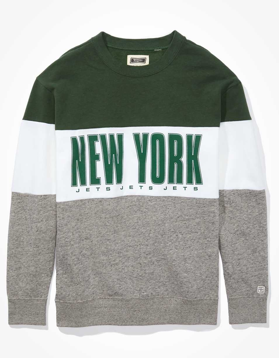 Tailgate Women's New York Jets Colorblock Sweatshirt