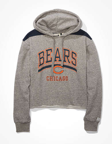 Tailgate Women's Chicago Bears Cropped Hoodie