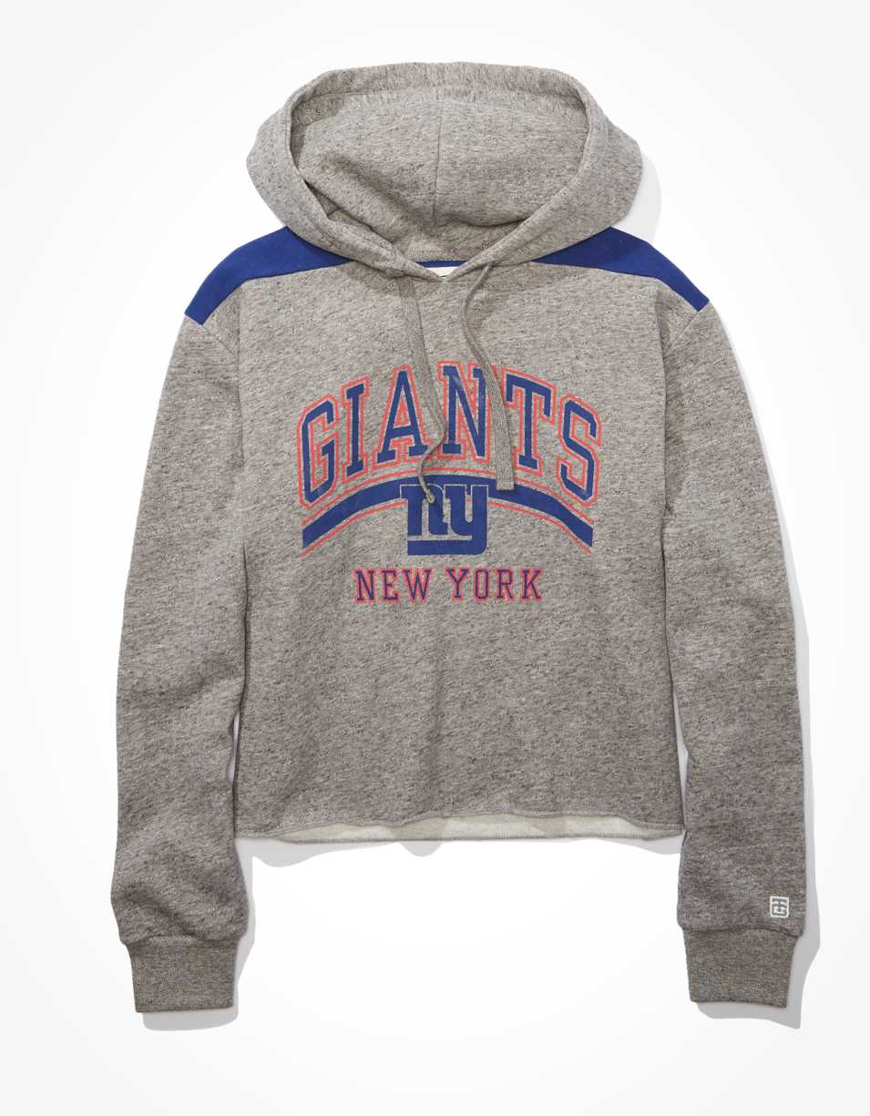 Tailgate Women's NY Giants Cropped Hoodie