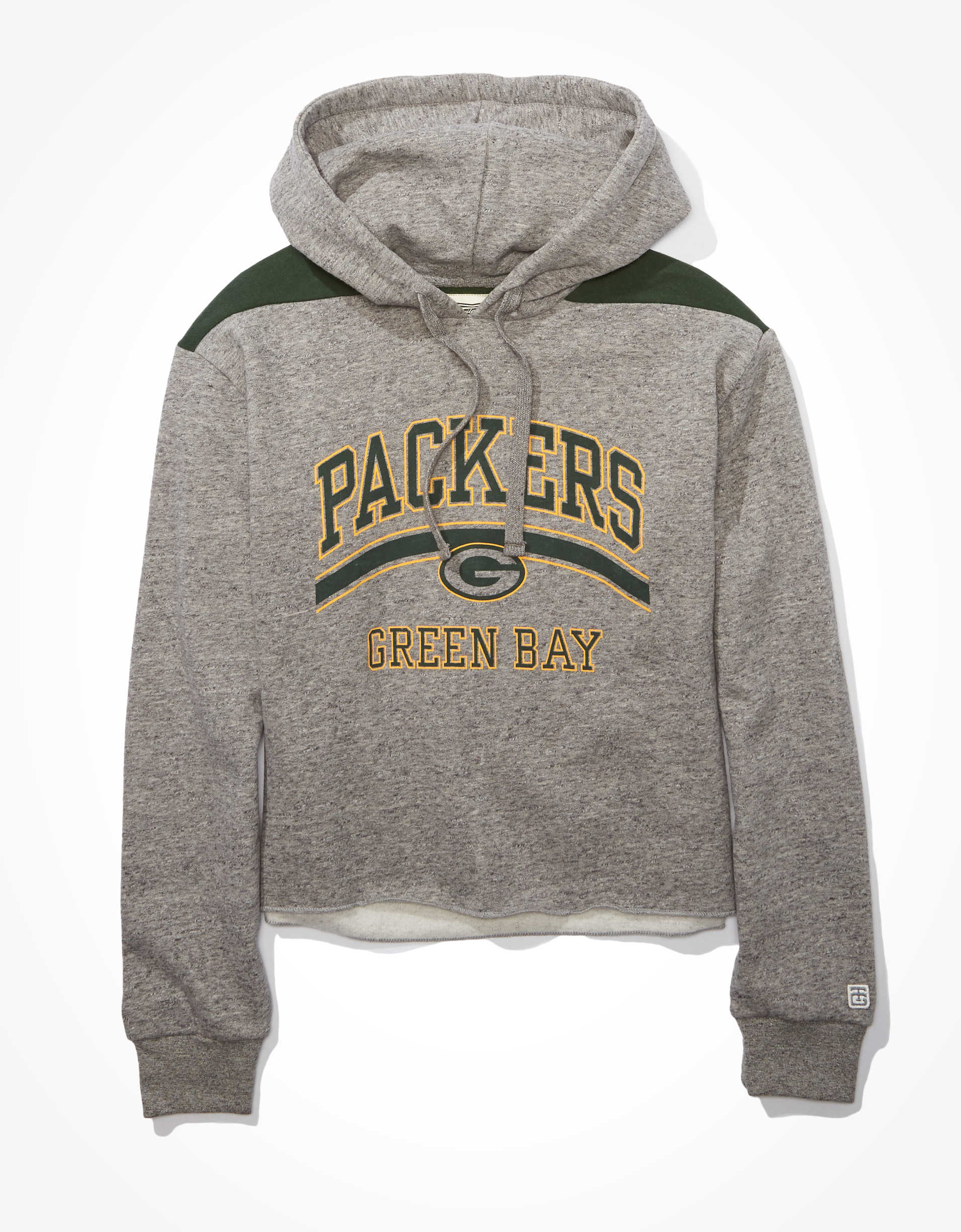 Tailgate Women's Green Bay Packers Cropped Hoodie