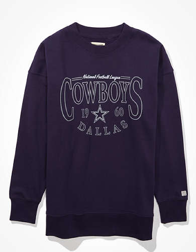 Tailgate Women's Dallas Cowboys Oversized Fleece Sweatshirt