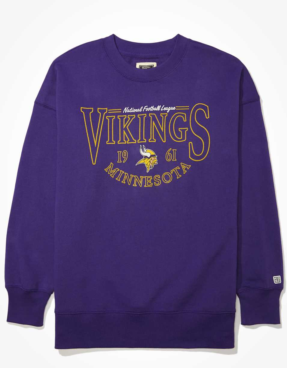 Tailgate Women's Minnesota Vikings Oversized Fleece Sweatshirt