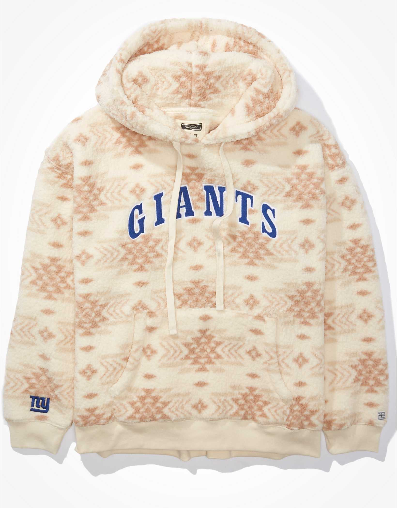 Tailgate Women's NY Giants Cozy Sherpa Hoodie