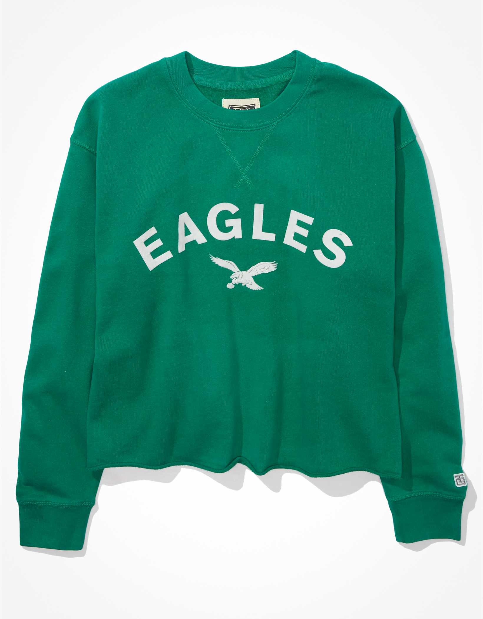 Tailgate Women's Philadelphia Eagles Raw Hem Sweatshirt