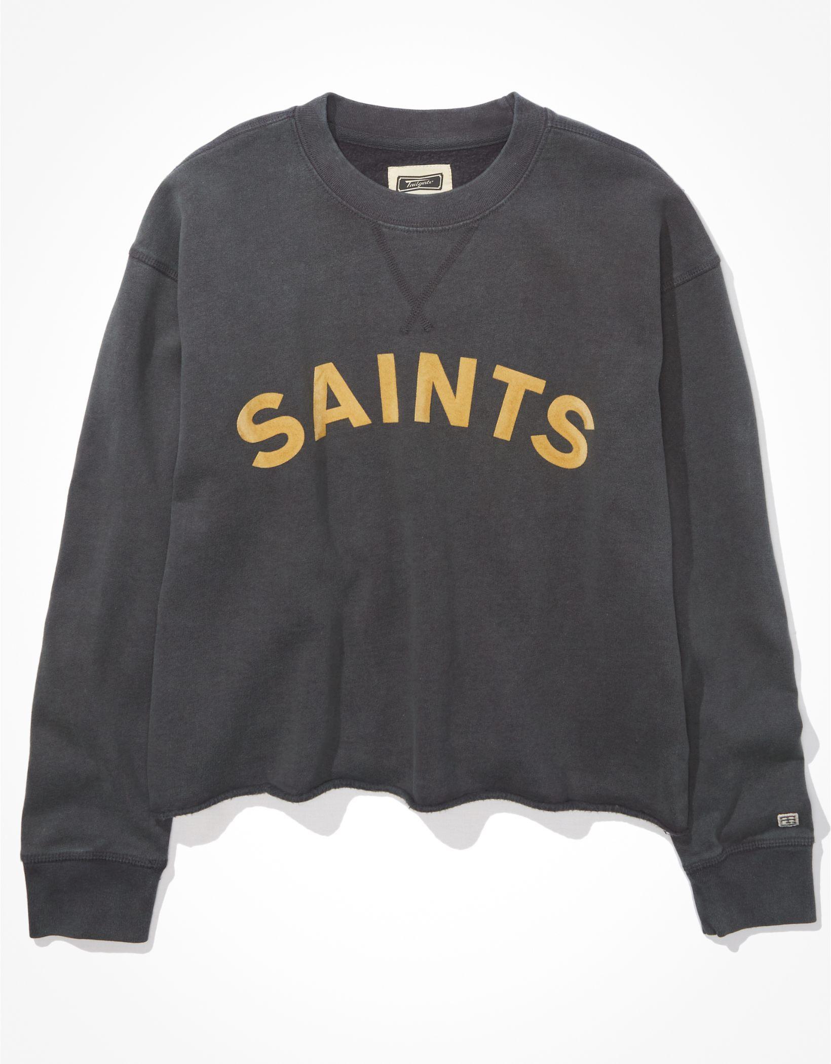 Tailgate Women's New Orleans Saints Raw Hem Sweatshirt