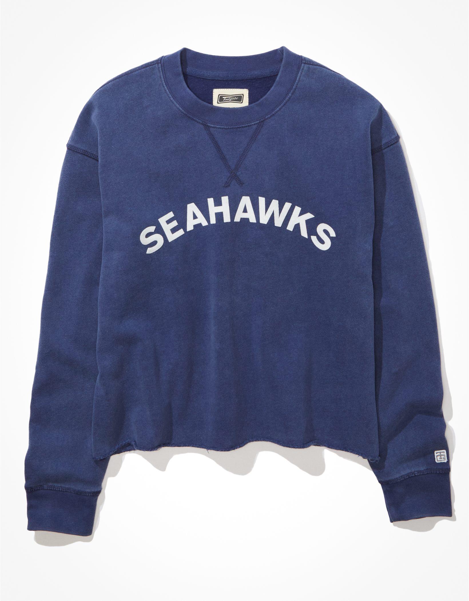Tailgate Women's Seattle Seahawks Raw Hem Sweatshirt