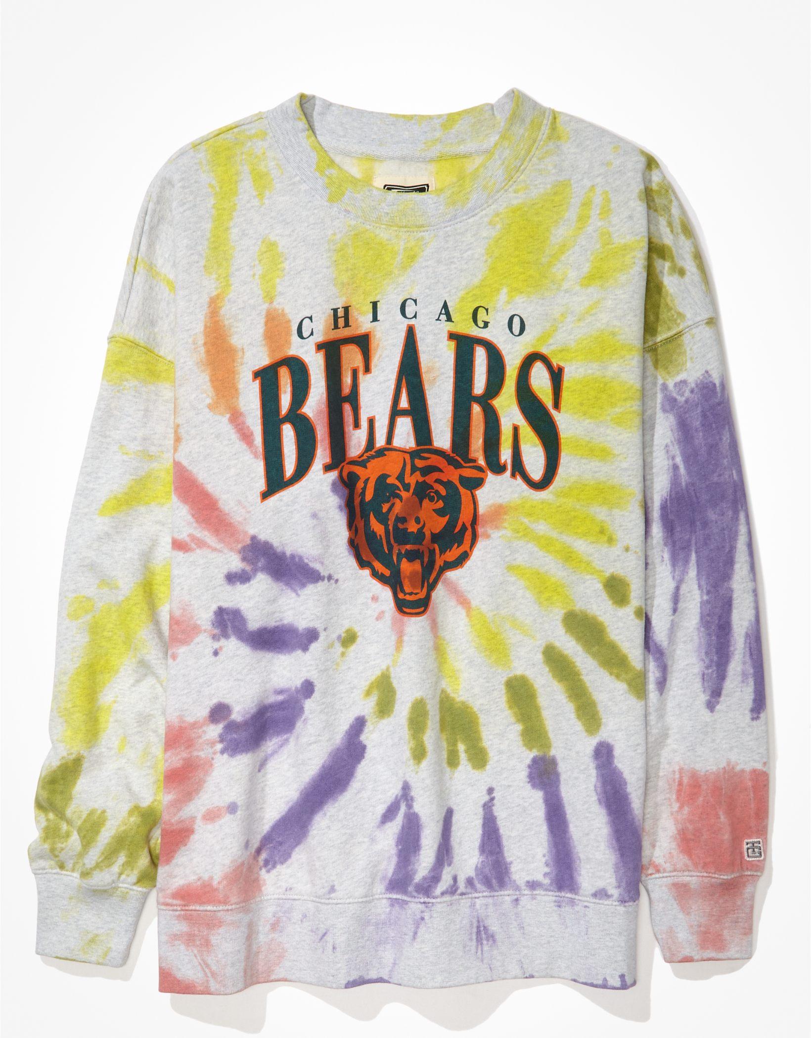 Tailgate Women's Chicago Bears Oversized Tie-Dye Sweatshirt