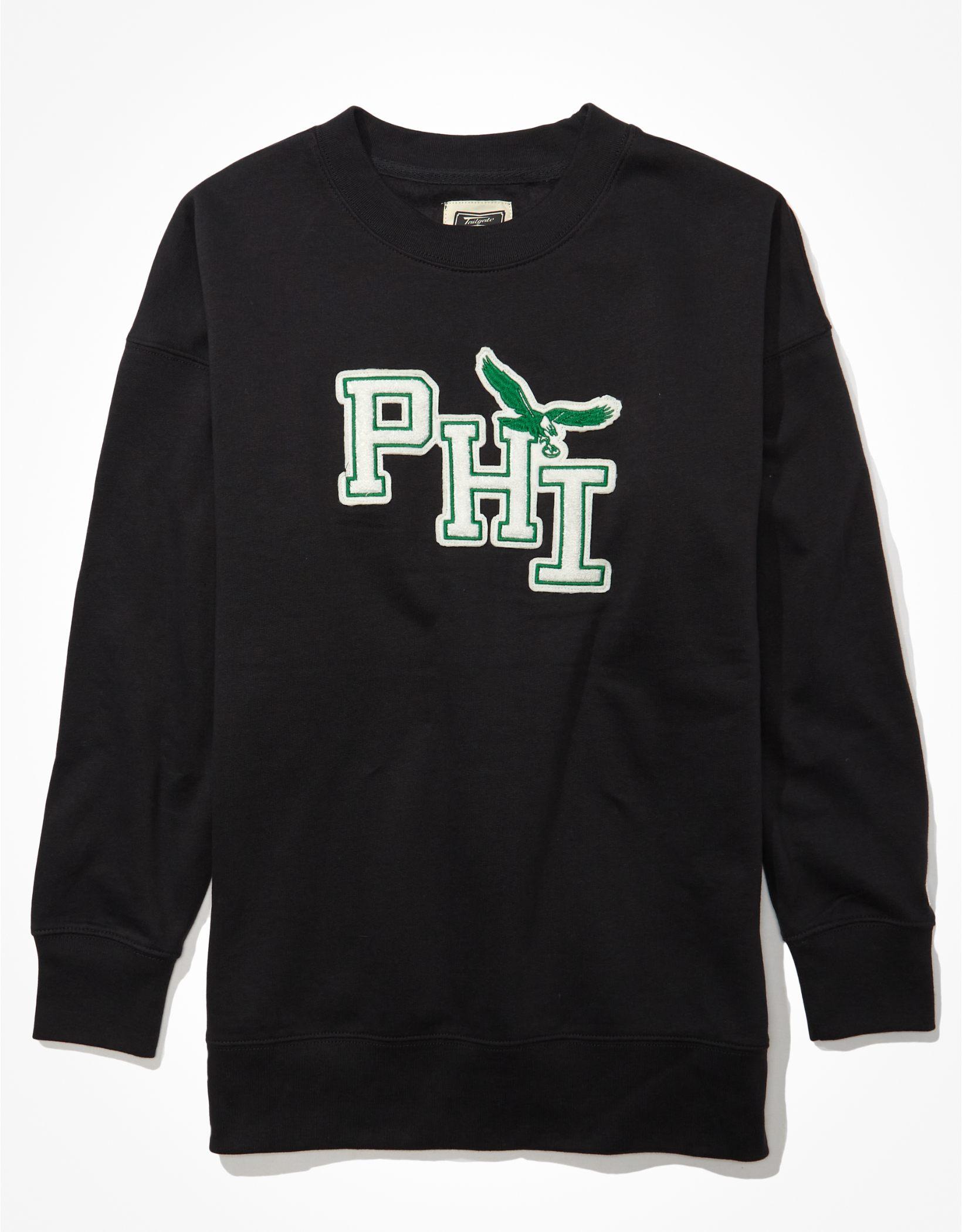 Tailgate Women's Philadelphia Eagles Oversized Sweatshirt