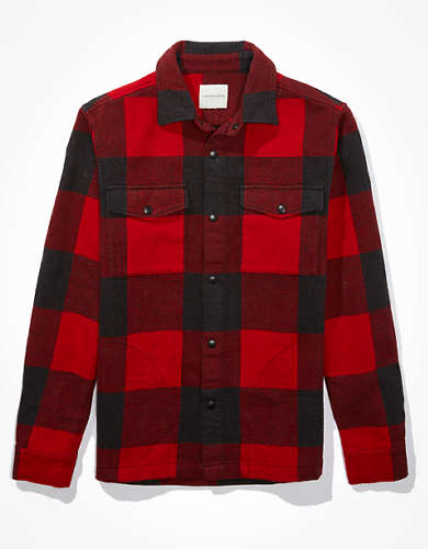 AE Flannel Shirt Jacket