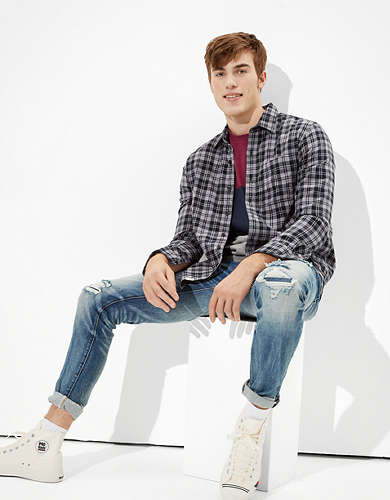 AE Spring Super Soft Flannel Shirt