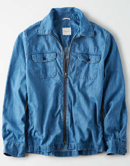 AE Denim Zip-Up Overshirt