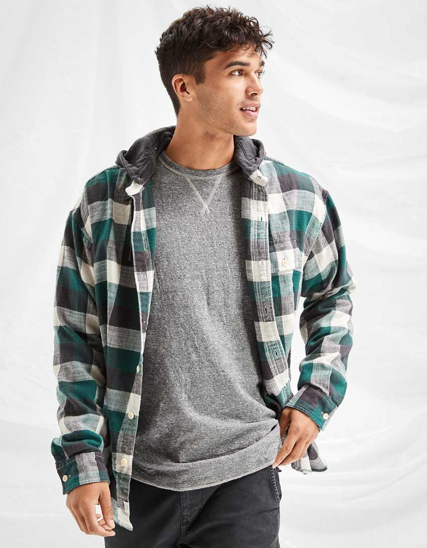 AE Cozy Cabin Hoodie Flannel