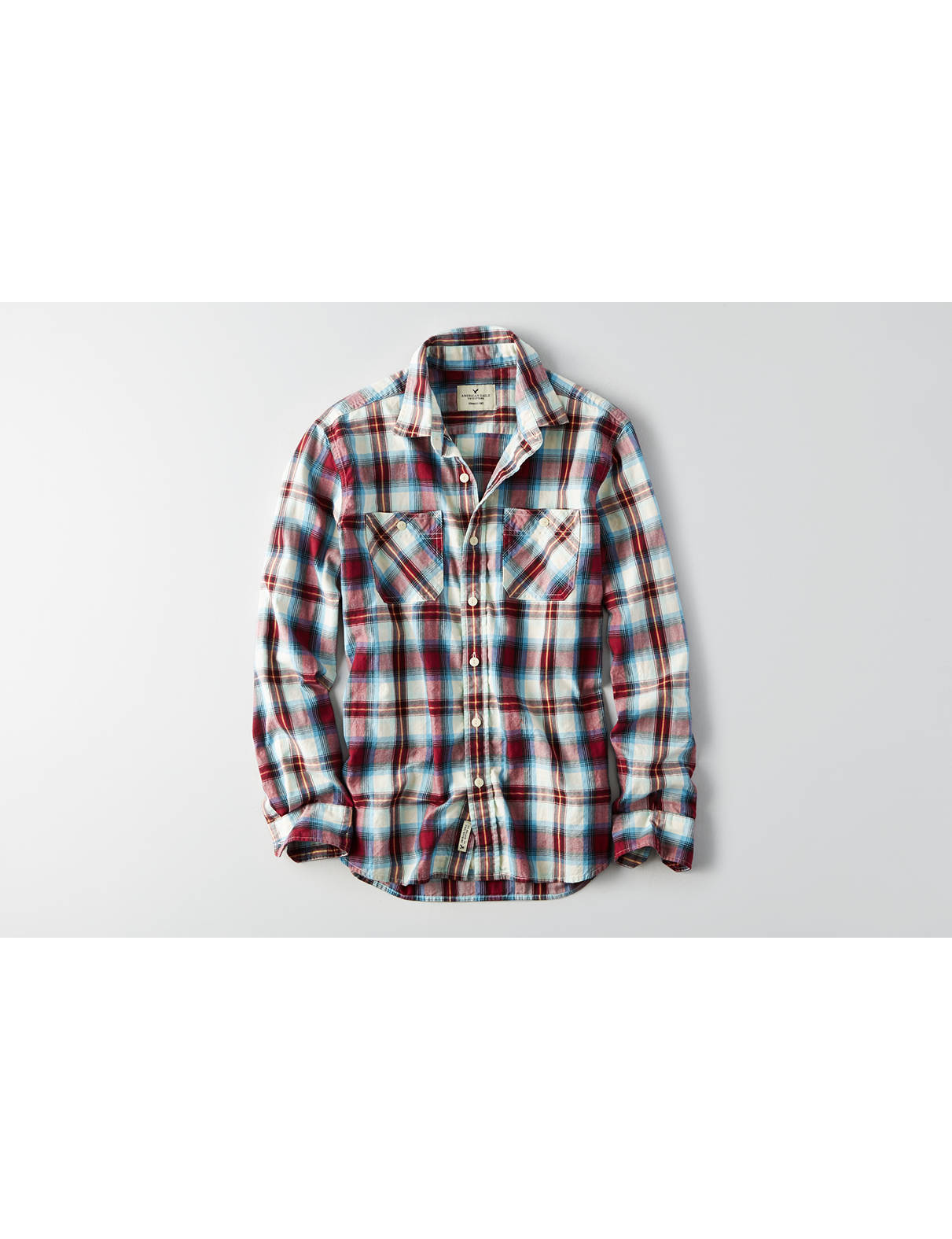 Display product reviews for AEO Plaid Workwear Shirt