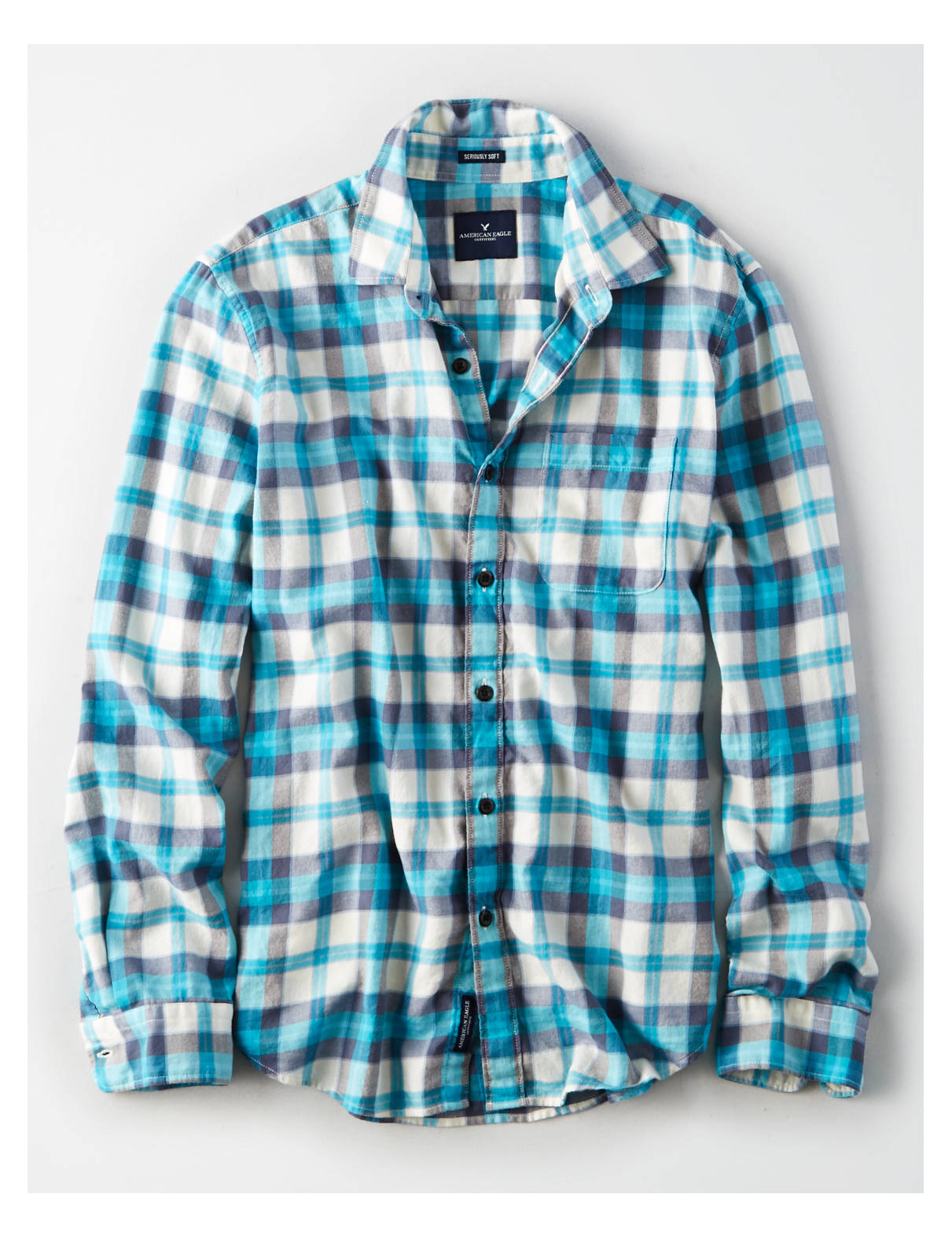 Display product reviews for AE Lightweight Flannel Shirt